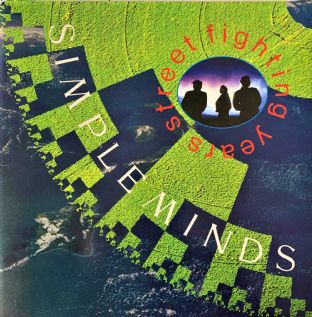 Simple Minds ‎- Street Fighting Years (LP) (VG-EX/VG+)